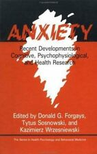 Anxiety: Recent Developments In Cognitive, Psychophysiological And Hea-ExLibrary