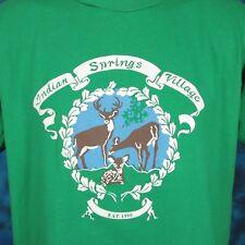 vintage 90s Indian Springs Village Alabama T-Shirt Medium/Large deer nature thin