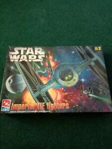 amt 2 star wars imperial tie fighters model kit  1/48 scale