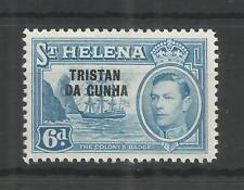 TRISTAN DA CUNHA 1952 GEORGE 6TH 6d LIGHT BLUE SG,7 M/MINT LOT 9943A