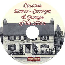 Concrete Homes & Cottages of the 1900's { 36 Vintage Design Books} on DVD