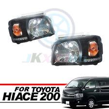 Clear Lens Black Base DRL HeadLight Lamp Fit For Toyota Hiace 200 Van 2005-2010