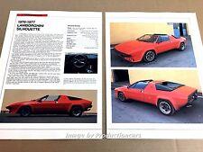 1976 1977 Lamboghini Silhouette Original Car Review Print Article J669