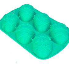 Silicona Huevo de Pascua Molde Hornear Pastel Manualidades Chocolate Fondant