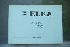 Elka Artist 707 Electronic Organs Schematic Diagram