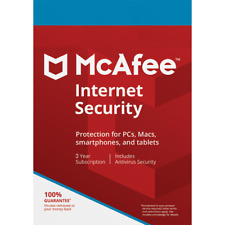McAfee Internet Security - 3 Years 1 Device - Windows MAC Smart Phones Tablets