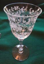 6 Vintage Tiffin-Franciscan TIFFIN ROSE  Etch Elegant Wine Glass Stem