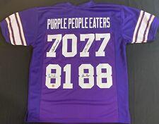Purple People Eaters Signed Custom Jersey Auto Page Eller Larsen Marshall COA