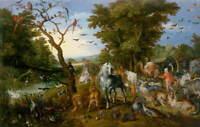 Jan Brueghel the Elder The Animals into Noah's Ark Giclee Paper Print Poster