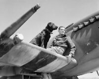 Wing Commander Johnnie Johnson and Sally RAF Spitfire WW2 WWII #101 4x6