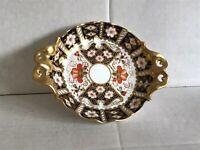 """Vintage Royal Crown Derby """"Bon Bon / Trinket Dish"""" Imari Pattern 2451 c1985"""