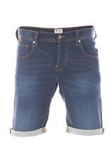 Mustang Herren Jeans Short Chicago Blau Mid Blue Deep Blue Dark Blue W31-W40