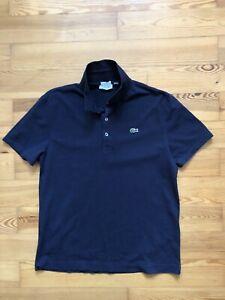 Lacoste Sport Polo Shirt Dunkel Blau / Größe FR 7 Slim Fit