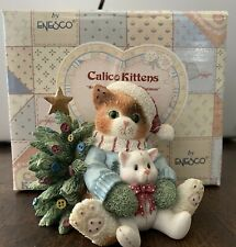 """New ListingCalico Kittens By Enesco 1996 - """"We Wish You A Merry Christmas"""" 932418"""