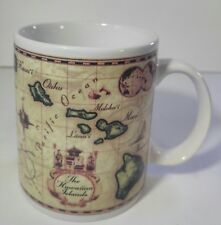 The Hawaiian Islands Map Coffee Cup Mug 1999 ABC Stores~BEAUTIFUL!