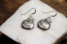 Pumpkin Earrings Jack O Lantern Halloween 925 sterling silver hooks pewter charm