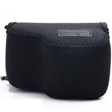 Black Neoprene Soft Camera case For Sony NEX-5T 5R 3N A5100 A5000 16-50mm Lens