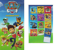 Paw Patrol 2018 Slim Line Calendar Boys Girls Bedroom Wall Calender Xmas Gift