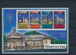 LO40875 Montserrat 1981 churches christmas holidays good sheet MNH