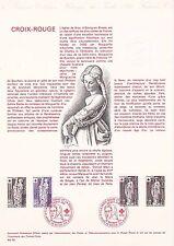 Document Philatélique Timbre 1er Jour : 20/11/ 1976 - Croix Rouge
