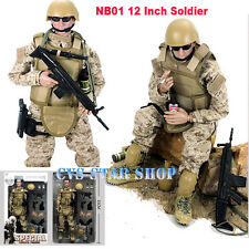 "12"" 1/6 NB1 Desert ACU Military Army Combat Soldier Action Figure Model Toy Gift"