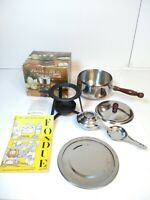 Stainless Steel Fondue Set by United Silver & Cutlery Co. USA