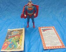 DC Super Powers Superman Action Figure Complete Cape File Card Comic Kenner 1984