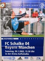 Offizielles Spielplakat + 26.01.2002 + BL + FC Schalke 04 vs. Bayern München #41