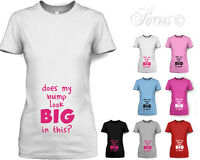 WOMENS 'DOES MY BUMP LOOK BIG IN THIS?' MATERNITY T-SHIRT FUN PREGNANCY TOP