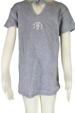 JACADI Girl's Longea Mouse Grey V Neck Jersey T-Shirt Size 2 Years NWT $34