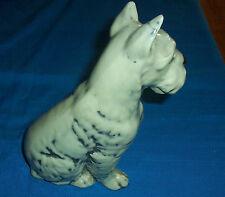 Gray Scottie Dog Scottish Terrier Figurine Sitting 8 inch