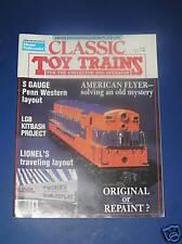 CLASSIC TOY TRAINS MAGAZINE-FALL 1988