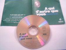 """PATRICIA KAAS  - CD SINGLE PROMO """"TEST-PRESSING"""" """"A QUI D'AUTRE QUE VOUS"""""""