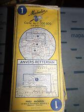 Carte michelin 1 anvers rotterdam 1970 *
