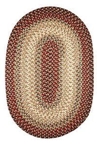 Easy Living Soft Textured Tweed Polypropylene Spainish Red Braided Rug EL73