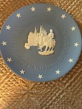 """Wedgwood England, 8� Blue """"American Independence-Victory at Yorktown Euc"""