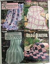 4 AFGAHN Crochet Pattern Books -Lacy Granny Mile-A-Minute Bold & Beautiful