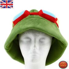 LOL league of legends Teemo Cosplay Party Warme Kappe Armeegrün Neu P5