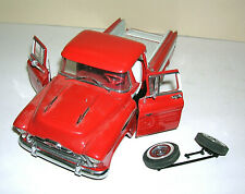 Danbury Mint Die Cast 1957 Chevrolet Cameo Pickup Truck 1/24 Red For Repair 1994