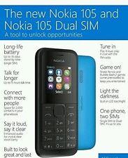 Prezzo basso Microsoft Nuovo di Zecca NOKIA 105 Dual SIM Sbloccato Nero ad eccezione di base 3G