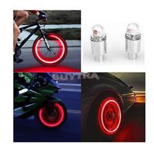Premium LED Lights for Wheel Valve Caps Cars/Bikes - 4 LIGHTS SET with Batteries