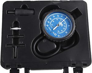 New Vacuum Pressure Gauge Kit Chrome Bezel Carry Case Dual Guage Reading AUS