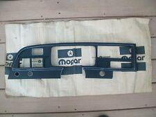 1974 1975 1976 Gran Fury I II Monaco Cop Car NOS MoPar INSTRUMENT CLUSTER BEZEL