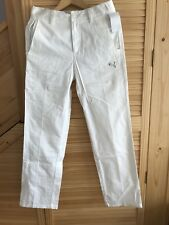PUMA GOLF STYLE Mens Solid Tech Pants White W28 L32 Brand New with Tag
