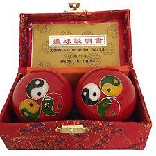 Baoding Balls Chinese health Massage Exercise Stress Balls - Triple YinYang #3