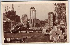 ANCIENNE CARTE POSTALE ITALIE FORO ROMANO DEJA UTILISEE