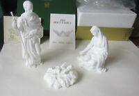 Vintage Lenox The Holy Family 3 pc. Nativity Set Vintage White Bisque Christmas
