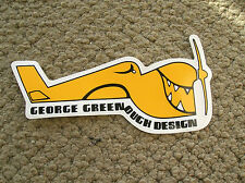 George Greenough surfboards surfing vintage airplane sticker santa barbara cali