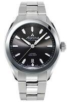 Alpina Men's Swiss Quartz Classic Silver Tone Black Dial 42mm Watch AL-240GS4E6B