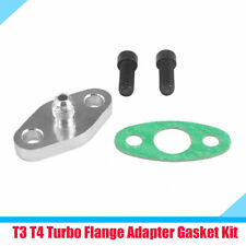 New 4 AN Car Turbo Oil Feed Inlet Flange Gasket Adapter Fitting Kit T3 T3/T4 T04